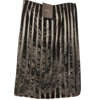 Amanda Wakeley Velvet striped pencil skirt