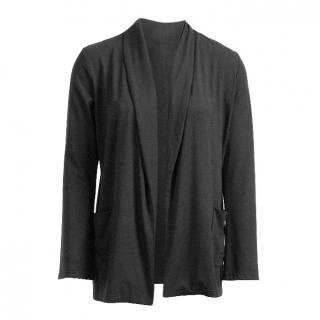 Belinda  Robertson Luxe Jersey Edge to Edge Cardigan, Black, Medium