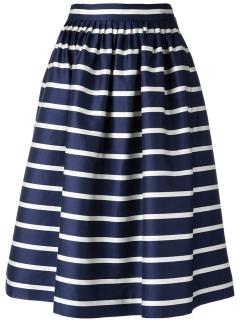 Polo Ralph Lauren Silk  Striped Skirt