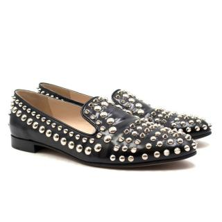 Prada Eileen Studded Loafers