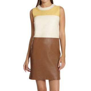 Raoul colorblock leather dress