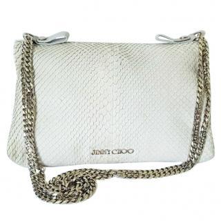 Jimmy Choo Grey Python Shoulder Bag