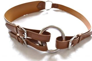 RALPH LAUREN Collection Brown Leather Belt