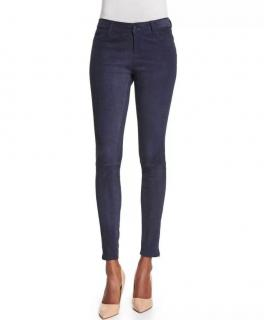 J Brand french suede leather trousers leggings