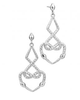 Cavalli Intertwined Earrings Serpent