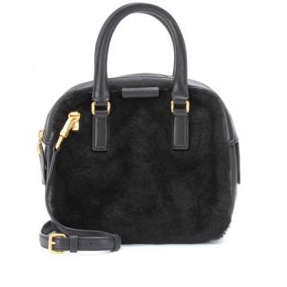 Marc by Marc Jacobs Black Clover and Shearling Bag