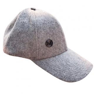 Maison Michel gray wool baseball cap