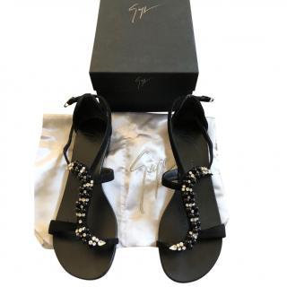 Giuseppe Zanotti crystal beaded sandals