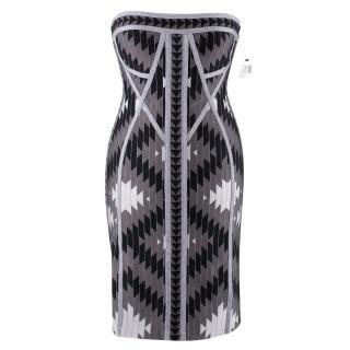 Herve Leger Dree Silver Bandage Dress