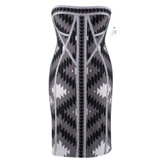 Herve Leger Dree Silver Bandage Dress