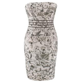 Herve Leger Floral Embellished Bandage Dress