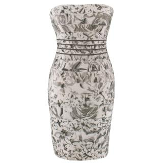 Herve Leger Floral Embellished Bandage Dress