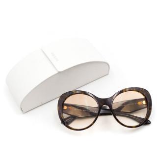 Prada Tortoise Shell Crystal Sunglasses