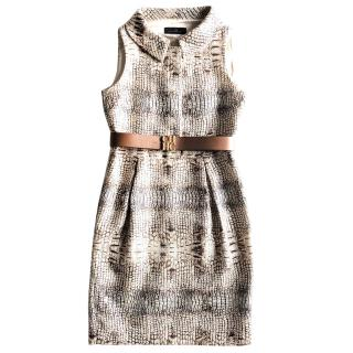 Carolina Herrera snake print dress