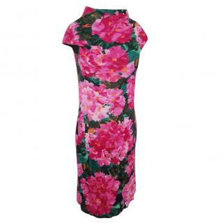 Balenciaga floral silk dress