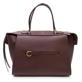 Celine Burgundy Leather Tote Bag