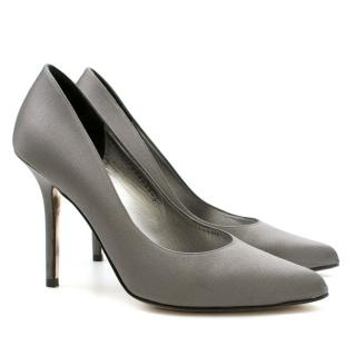 Gina Satin Heeled Pumps