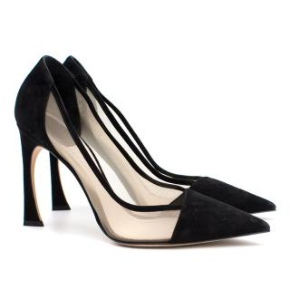 Dior Suede and Mesh Choc Heel Pumps