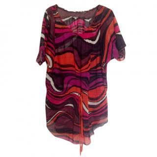 M Missoni multicolor fine cotton oversized tunic blouse
