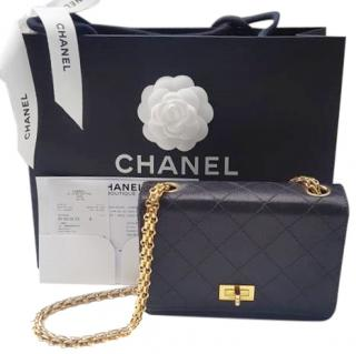 Chanel satin classic flap bag