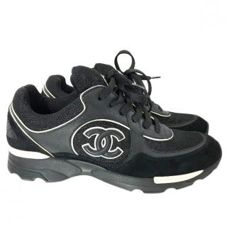 Chanel Suede And Calfskin Sneakers