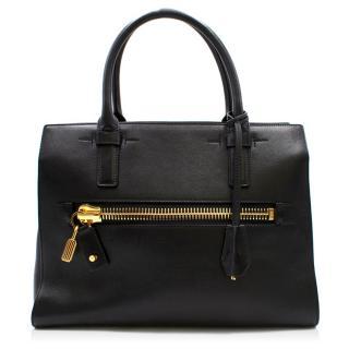 Tom Ford Black Leather Tote Bag