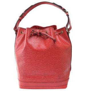 Louis Vuitton Petit Noe Red Epi Shoulder Bag