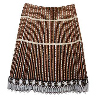 Marni raffia skirt