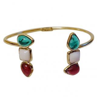 Gripoix Paris Geometric Poured Glass Bracelet