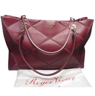 ROGER VIVIER leather tote bag