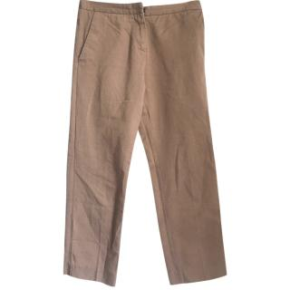 Marni Tan Cropped Trousers