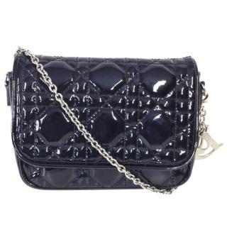 DIOR Black Cannage Quilted Lady Dior Mini Crossbody Bag