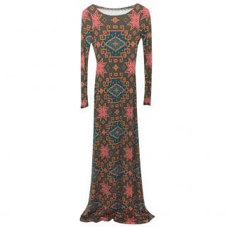 Matthew Wiliamson Silk Printed Gown