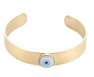 Ileana Makri Eye Am Gold Ziggy Eye Cuff - Current