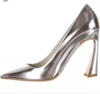 Christian Dior silver shoes heels size 38