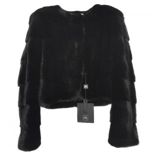 CPL black saga mink jacket