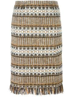Tory Burch Diamond Tweed Skirt