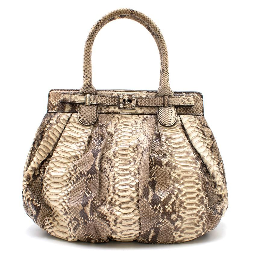 Zagliani Python Roccia Bag
