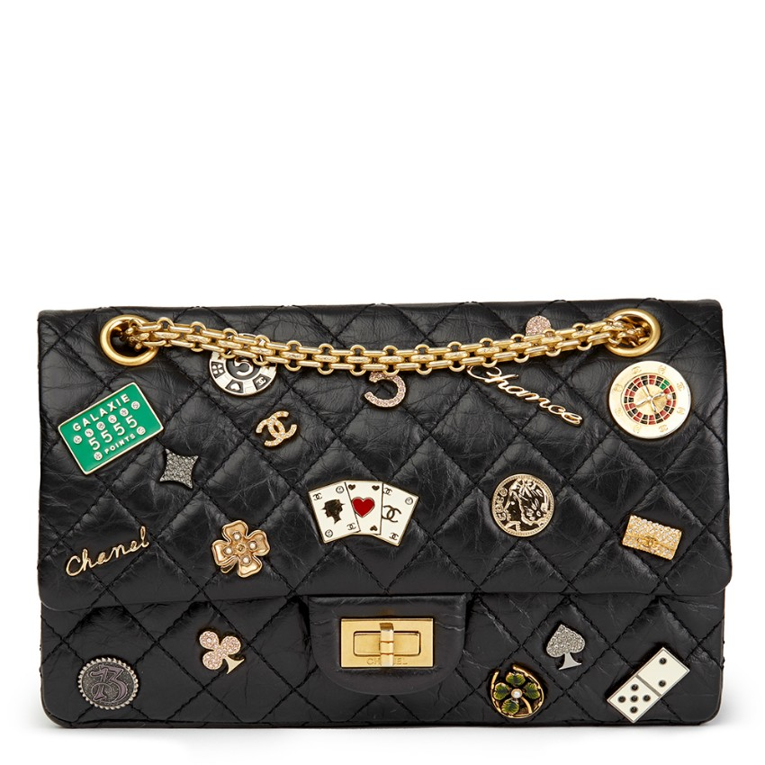 27a05b78837d Chanel Casino Lucky Charms 255 Reissue 225 Calfskin Double Flap Bag | HEWI  London