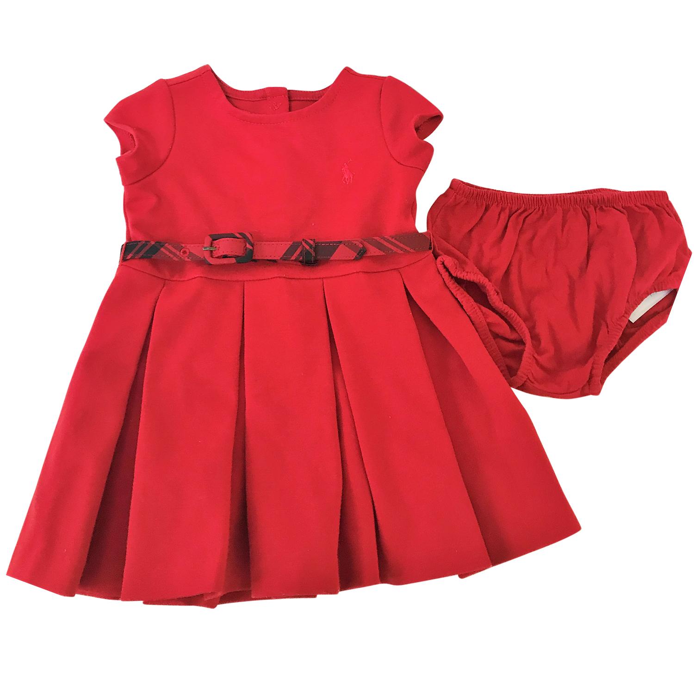 e4f204d7 Ralph Lauren girl's red bloomers and dress 6 months