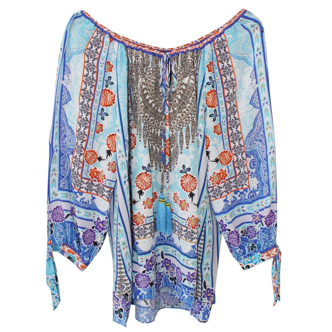 2700e9415a870e Hale Bob Daeja Printed Silk Tunic