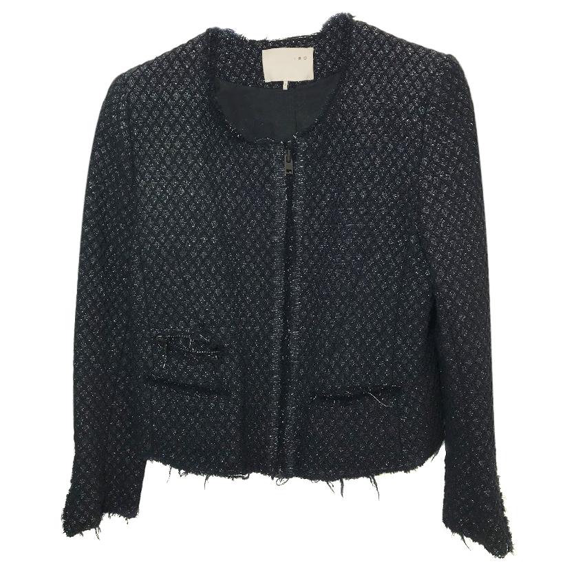 IRO Asella Black Jacket With Silver Thread