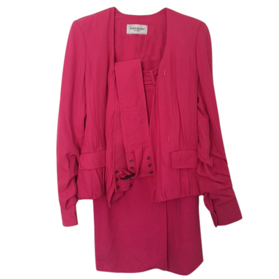 YSL Pink Skirt Suit