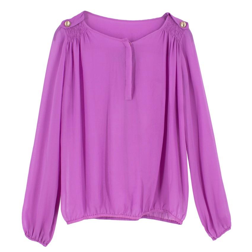 Versace Sheer Silk Blouse
