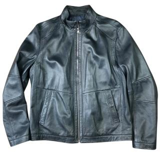 Hugo Boss Noksins Leather Biker Jacket