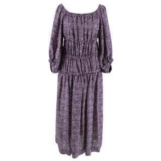 Sonia Rykiel Purple Bardot Dress