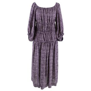 Sonia Rykiel Purple Bardot Dress