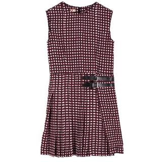 Marni Girls Plaid Square Print Dress