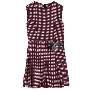 Marni Girls Plaid Square Print Dress