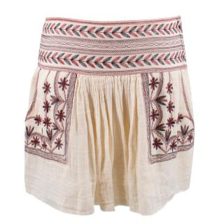 Isabel Marant Etoile Cream Embroidered Skirt